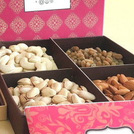 Dry Fruits Gift Box with Diya